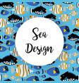 sea design pattern with ocean fish vector image