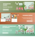 set of veterinary care concept horizontal vector image