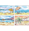 Sunny beach sketches vector image