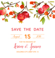 Wedding Invitation Card - with Pomegranates vector image