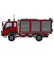 Small fire truck vector image