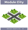 City streets intersection vector image
