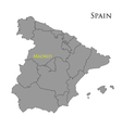 Contour map of Spain vector image