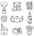 hand draw love doodles vector image