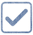 ok fabric textured icon vector image