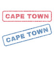 cape town textile stamps vector image
