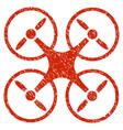 nanocopter grunge icon vector image