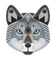 wolf head logo decorative emblem vector image
