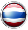 thailand flag in round frame vector image