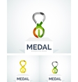 Abstract colorful logo design medal vector image vector image