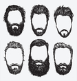 Hipster hair and beard set vector image vector image
