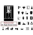 icon set bathroom vector image