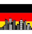 city and flag of germany vector image vector image