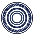 Twine rope navy blue marine brush Pattern string vector image