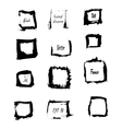 black ink square borders vector image