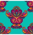 damask floral ethnic seamless pattern vector image