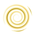 Golden watercolor spiral vector image