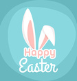Happy Easter greeting card design wi vector image