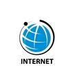logo internet vector image