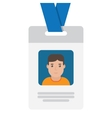 User id card with male photo vector image
