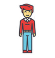 young man standing student freelancer concept vector image