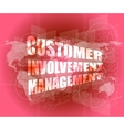 customer involvement management word on business vector image vector image