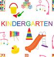 Seamless pattern for kindergarten vector image