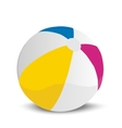 a beach ball vector image