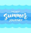 Summer journey hand drawn brush lettering vector image