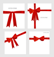 Shiny red ribbons vector image vector image