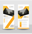 yellow abstract triangle abstract business roll up vector image