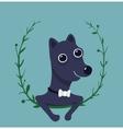 Cute Male Dog Portrait vector image