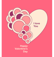 Valentines Card with Heart circles vector image vector image