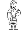 Ukrainian Girl vector image
