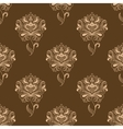 Oriental dainty paisley flowers seamless pattern vector image vector image