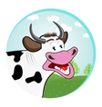 smiling happy funny cow vector image