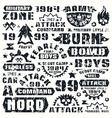 Military typographic elements vector image