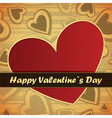 valentine day card with hearts vector image vector image