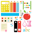 Back to school design elements and artwork vector image vector image