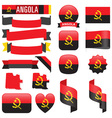 Angola flags vector image
