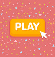 game button with mouse cursor vector image