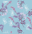 spring seamless pattern of wild flowers vector image