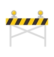 road warning barrier vector image