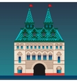 Russian style house vector image