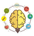 brain and ideas design vector image