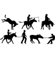 Donkeys vector image vector image