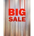 Big Sale text on wooden background  EPS10 vector image vector image
