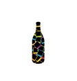 bottle with polaroids vector image vector image