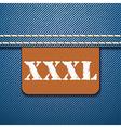XXXL size clothing label - vector image