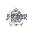 Junior rugby team emblem vector image